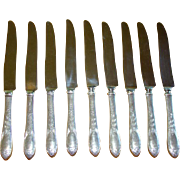 9 Gorgeous Vintage Kirk Stieff PRIMROSE STERLING French Hollow Knives Knife