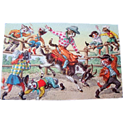 Neat Vintage MAINZER Western Cowboy Rodeo Cats POSTCARD, Unused