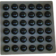 36 Antique BOOT or SHOE Replacement BUTTONS, Unused ON DISPLAY CARD
