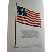 1925 THE FLAG OF THE UNITED STATES, Harrison S. Kerrick Signed & Personalized