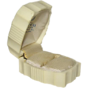 Lovely ART DECO Celluloid Hinged RING BOX, Bothwell Jewelers, San Jose, CA