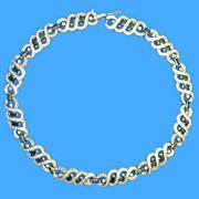 Panetta Crystal & Blue Rhinestone Necklace