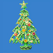 Green Christmas Tree Pin
