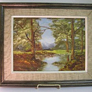 """Original Oil on Board L. Steeves entitled """"Reflections"""""""