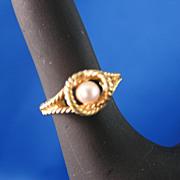 Genuine Cultured Pearl Avon Ring