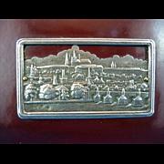 Edwardian Bakelite Calling Card Case with German Silver Motif