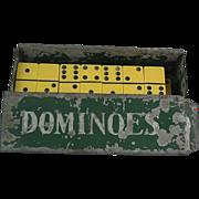 Fantastic Vintage Bakelite Dominoes Set with Metal Box