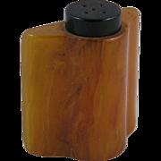 Caramel Catalin or Bakelite Salt/Pepper Shaker