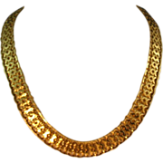 SOLD Lovely Vintage Monet Goldtone Linked Necklace