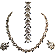 Exquisite Marboux (Boucher) Parure (Necklace, Bracelet and Earrings)