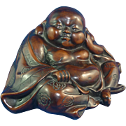 Very Unique Chinese Export Resin Sleeping Buddha with Erotica on Bottom