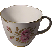 Royal Crown Derby Pinxton Rose Flat Teacup Only