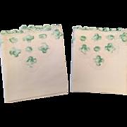 Dainty Mint Green Vintage Crochet Pillowcases