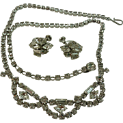 Classic and Timeless Sherman Clear Necklace and Earrings