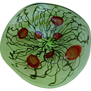 """Murano Glass Huge 19"""" Gorgeous Platter Mint Condition Labeled"""