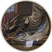 Charming 19th Century Cat, Lobster, & Porcelain Box