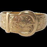 Lovely 9Kt Gold Belt Buckle Ring