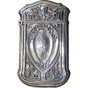 Webster Co. Sterling Silver Match Safe with Florals