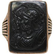 Triple Warrior Cameo Ring in 10K Gold