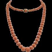 Victorian Era Graduated Coral Necklace