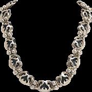Victoria Ana Nunez Brilanti Vintage Taxco Sterling Silver Necklace