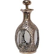 1900's Chinese Sterling Silver Export Glass Decanter