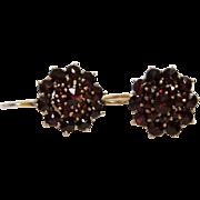 SOLD 19th Century Bohemian Rose Cut Garnet Earrings