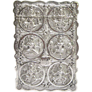 19th Century Indian Silver Calling Card Case