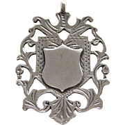 Reticulated Sterling Silver Watch Fob-Pendant
