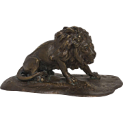 20th Century Cast Bronze Lion Sculpture