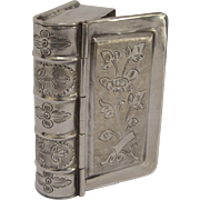 Antique Silver Figural Book Box