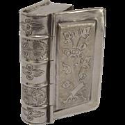 Antique Silver Figural Book Box