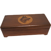 SALE PENDING 1930's Rin-Tin-Tin Darkwood Box