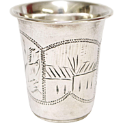 19th Century Russian Sterling Silver Vodka Cup