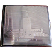 C.G. Halberg Engraved Swedish Silver Cigarette Case