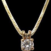 18 K Yellow Gold and Diamond Pendant
