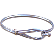 Vintage Tiffany & Co. Sterling Silver Hook and Eye Bracelet