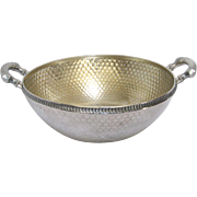 Wood & Hughes Gilt Sterling Silver Honey Comb Bowl