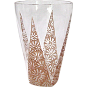 R. Lalique Marguerite Glass Tumbler with Sepia Patina