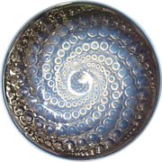 """SOLD Radiating R.Lalique Opalescent """"Volutes"""" Plate"""