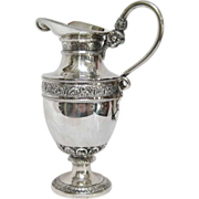 Snake Handled with Face Belgian Silver (835) Pitcher