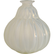 Opalescent Art Deco Glass Vase by Sabino from Paris