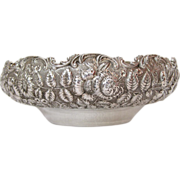 Kirk & Son Sterling Silver Floral Repousse Bowl