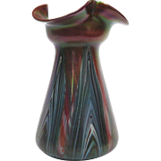 Iridescent Rindskopf Pulled Feathered Vase, circa 1910