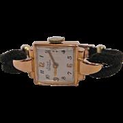 Retro Girard Perregaux 18K Rose Gold Ladies Watch, circa 1940