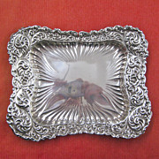 Gorham Repousse Sterling Silver Pin Tray with Flowers and Ferns