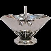 Georg Jensen Hand-Hammered Sterling Silver Rosebud Sugar Bowl, circa 1930s