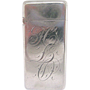 R. Wallace & Sons Sterling Silver and Gilt Match Safe