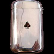 William Kerr Sterling Silver and Garnet Set Spade Match Safe