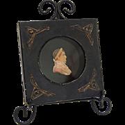 Rare Regency Period Napaleon Wax Portrait Miniature